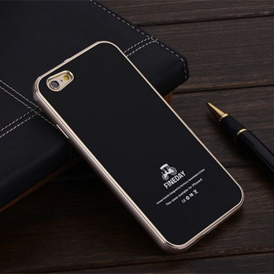 Гаджет   FINEDAY 5.5 inch Tempered Glass Back Case with Metal Bumper Frame Phone Cover Case for iPhone 6 Plus