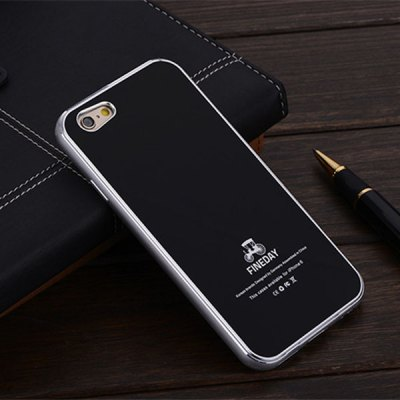 5.5 inch Tempered Glass Back Case with Metal Bumper Frame Phone Cover for iPhone 6 Plus
