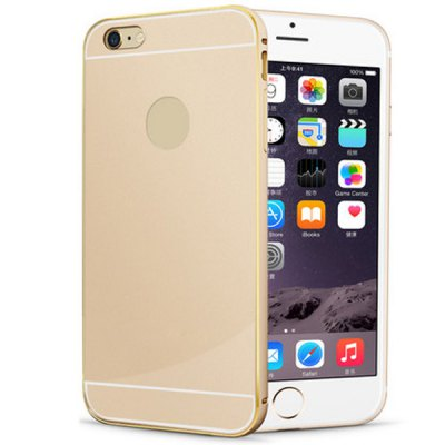 Гаджет   Anti - dust Gold Aviation Aluminium Acrylic Moby Back Cover Case for iPhone 6  -  4.7 inch iPhone Cases/Covers