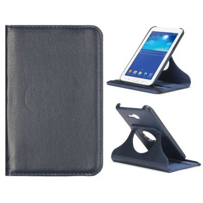 Litchi Pattern Style 360 Rotating Leather Case for Samsung Galaxy Tab 3 Lite T110 / T111
