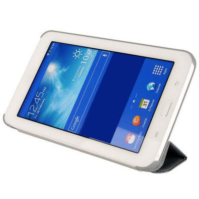 ФОТО Tri - fold Folio Silk Texture Style Leather Stand Cover Case for Samsung Galaxy Tab 3 Lite T110 / T111