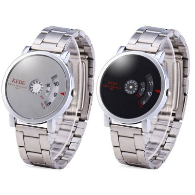 Фотография Kede 848 Binary Display Neuter Wrist Watch with Mirror Round Dial