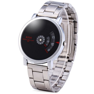 Kede 848 Binary Display Neuter Wrist Watch with Mirror Round Dial