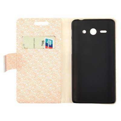 Фотография Maze Texture Full Body PU Leather Case with Credit Card Slot Stand for Huawei Ascend Y530