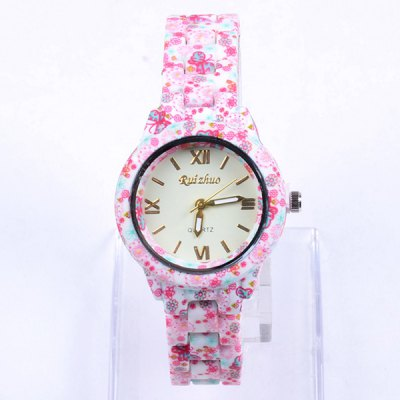 Ruizhuo Bright Color Ladies Quartz Watch Round Dial Flower Ceramic StrapWomens Watches<br>Ruizhuo Bright Color Ladies Quartz Watch Round Dial Flower Ceramic Strap<br><br>Watches categories: Female table<br>Available color: Pink, Multi-color, Green, Blue, Red<br>Style : Fashion&amp;Casual, Ceramics<br>Movement type: Quartz watch<br>Shape of the dial: Round<br>Display type: Analog<br>Case material: Ceramic<br>Band material: Ceramic<br>Clasp type: Folding clasp with safety<br>The dial thickness: 0.8 cm / 0.31 inches<br>The dial diameter: 2.9 cm / 1.14 inches<br>Product weight: 0.050 kg<br>Package weight: 0.1 kg<br>Product size (L x W x H) : 23 x 2.9 x 0.8 cm / 9.04 x 1.14 x 0.31 inches<br>Package size (L x W x H): 24 x 3.9 x 1.8 cm / 9.43 x 1.53 x 0.71 inches<br>Package contents: 1 x Watch