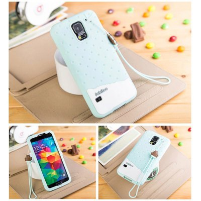 Fabitoo Lanyard Design Silicone Back Cover Case for Samsung Galaxy S5 i9600 SM - G900