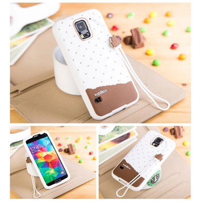 ФОТО Fabitoo Lanyard Design Silicone Back Cover Case for Samsung Galaxy S5 i9600 SM - G900