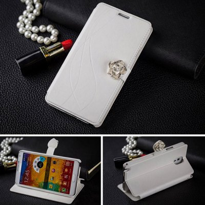 Гаджет   Fabitoo Flower Magnetic Snap Design PU and PC Cover Case for Samsung Galaxy Note 3 N9000 Samsung Cases/Covers