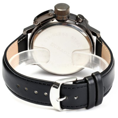 Фотография Jubaoli Male Luminous Quartz Watch with Constellation Leather Strap Fashion Round Dial
