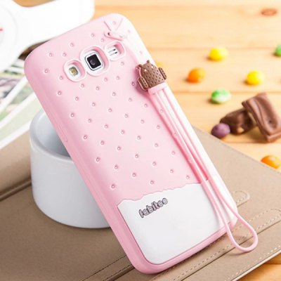 Fabitoo Lanyard Design Silicone Back Cover Case for Samsung Galaxy Grand 2 G7106