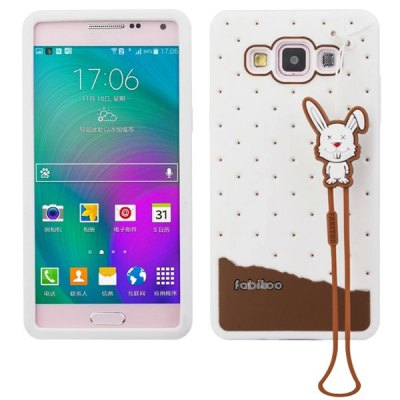 Fabitoo Lanyard Design Silicone Back Cover Case for Samsung Galaxy A5 A5000
