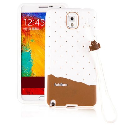 Fabitoo Lanyard Design Silicone Back Cover Case for Samsung Galaxy Note 3 N9000Samsung Cases/Covers<br>Fabitoo Lanyard Design Silicone Back Cover Case for Samsung Galaxy Note 3 N9000<br><br>Compatible for Sumsung: Galaxy Note 3 N9000<br>Features: Back Cover<br>Material: Silicone<br>Style: Novelty, Contrast Color<br>Color: Yellow, Chocolate, White, Pink, Blue, Green<br>Product weight: 0.040 kg<br>Package weight: 0.090 kg<br>Product size (L x W x H) : 15.5 x 8.2 x 1 cm / 6.09 x 3.22 x 0.39 inches<br>Package size (L x W x H): 22 x 11 x 2 cm / 8.65 x 4.32 x 0.79 inches<br>Package Contents: 1 x Case