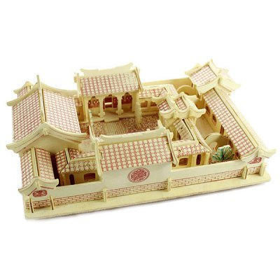 Three-dimensional Wooden Beijing Courtyard DIY Simulation Model