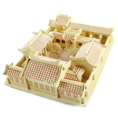 Innovative Three - dimensional Wooden Beijing Courtyard DIY Simulation Model