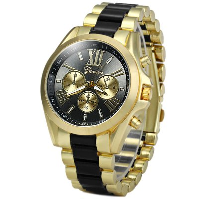 Geneva Analog Unisex Quartz Watch Steel + Plastic Band Round DialUnisex Watches<br>Geneva Analog Unisex Quartz Watch Steel + Plastic Band Round Dial<br><br>People: Unisex table<br>Watch style: Fashion<br>Available color: Black, White, Blue, Gold<br>Shape of the dial: Round<br>Movement type: Quartz watch<br>Display type: Analog<br>Case material: Stainless steel<br>Band material: Plastic and steel<br>Clasp type: Folding clasp with safety<br>The dial thickness: 1.2 cm / 0.47 inches<br>The dial diameter: 4.4 cm / 1.73 inches<br>The band width: 2.0 cm / 0.79 inches<br>Product weight: 0.117 kg<br>Package weight: 0.167 kg<br>Product size (L x W x H) : 14 x 4.4 x 1.2 cm / 5.50 x 1.73 x 0.47 inches<br>Package size (L x W x H): 25 x 5.4 x 2.2 cm / 9.83 x 2.12 x 0.86 inches<br>Package contents: 1 x Watch