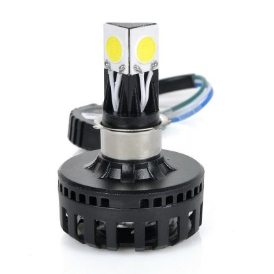 exLED H2 12W 6000K 2000 Lumens COB White Motorcycle Headlight