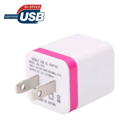 US Plug Dual USB Port Power Adapter