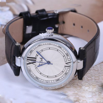 Klok Female Ladies Contracted Quartz Watch Analog Wristwatch Leather Band