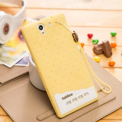 Фотография Fabitoo Lanyard Design Silicone Back Cover Case for Sony Xperia C3 S55T