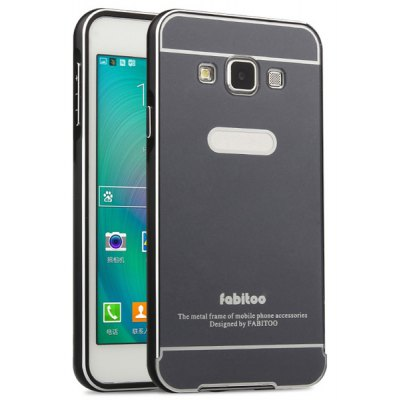 Fabitoo Frame Style Aluminium Alloy Bumper with PC Back Case for Samsung Galaxy A3 A3000