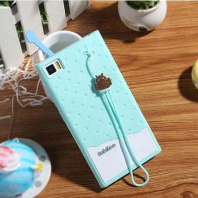 Fabitoo Lanyard Design Silicone Back Cover Case for Xiaomi 3