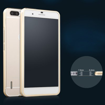 Фотография Fabitoo Frame Style Aluminium Alloy Bumper with PC Back Case for Huawei Honor 6 Plus