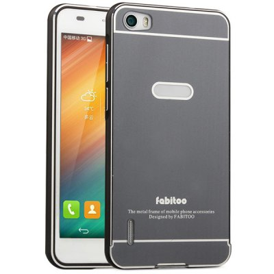 ФОТО Fabitoo Frame Style Aluminium Alloy Bumper with PC Back Case for Huawei Honor 6