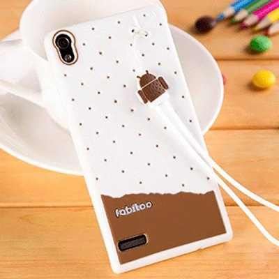 Гаджет   Fabitoo Lanyard Design Silicone Back Cover Case for Huawei Ascend P6 Other Cases/Covers
