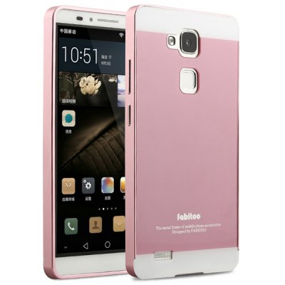 ФОТО Fabitoo Frame Style Aluminium Alloy Straight Flange Bumper with PC Back Case for Huawei Mate 7