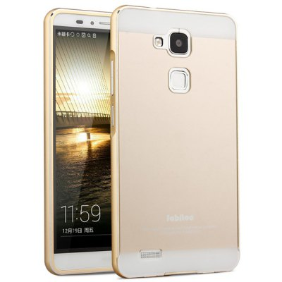 Fabitoo Frame Style Aluminium Alloy Arc Bumper with PC Back Case for Huawei Mate 7