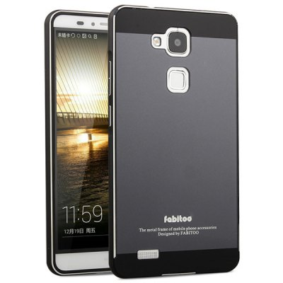 ФОТО Fabitoo Frame Style Aluminium Alloy Arc Bumper with PC Back Case for Huawei Mate 7
