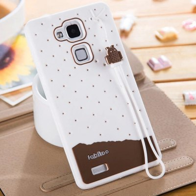 Гаджет   Fabitoo Lanyard Design Silicone Back Cover Case for Huawei Mate 7 Other Cases/Covers