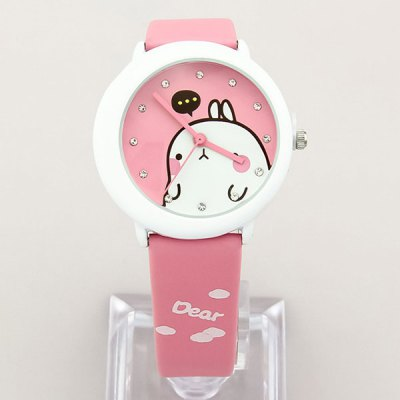 Women Men Quartz Watch with Cartoon Design Round Dial Leather BandUnisex Watches<br>Women Men Quartz Watch with Cartoon Design Round Dial Leather Band<br><br>People: Unisex table<br>Watch style: Casual<br>Available color: Black, Blue, Pink, White<br>Shape of the dial: Round<br>Movement type: Quartz watch<br>Display type: Analog<br>Case material: Alloys<br>Band material: Leather<br>Clasp type: Pin buckle<br>The dial thickness: 0.9 cm / 0.38 inches<br>The dial diameter: 3.8 cm / 1.49 inches<br>Product weight: 0.040 kg<br>Package weight: 0.09 kg<br>Product size (L x W x H) : 23.5 x 3.8 x 0.9 cm / 9.24 x 1.49 x 0.35 inches<br>Package size (L x W x H): 24.5 x 4.8 x 1.9 cm / 9.63 x 1.89 x 0.75 inches<br>Package contents: 1 x Watch