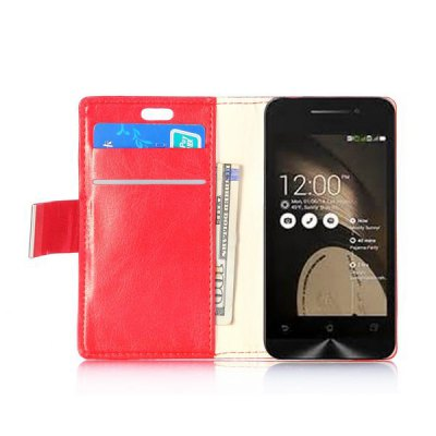 Фотография Crystal Texture Design Full Body PU Leather Case with Credit Card Slot Stand for Asus ZenFone 4