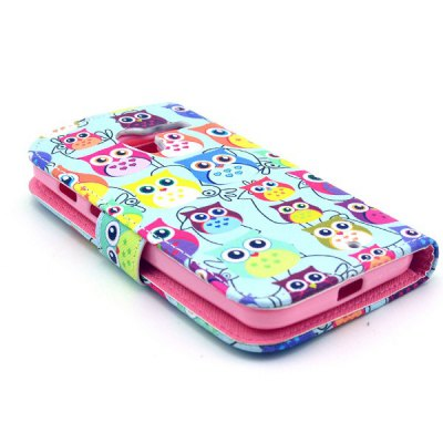 Фотография Lovely Owl Style Full Body Case with Credit Card Holder Stand for Motorola X XT1058 XT1055 XT1053