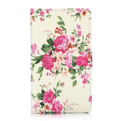 Гаджет   Flower Pattern PU Leather Case with Credit Card Holder Stand for Nokia Lumia 1020 Other Cases/Covers