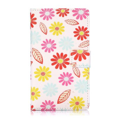 Flower Leaf Pattern PU Leather Case with Credit Card Holder Stand for Nokia Lumia 1020