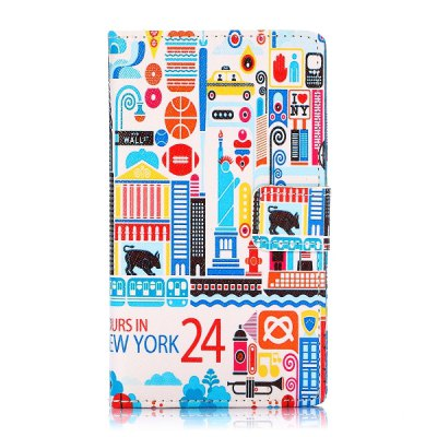 Гаджет   Building Letter Pattern PU Leather Case with Credit Card Holder Stand for Nokia Lumia 1020 Other Cases/Covers