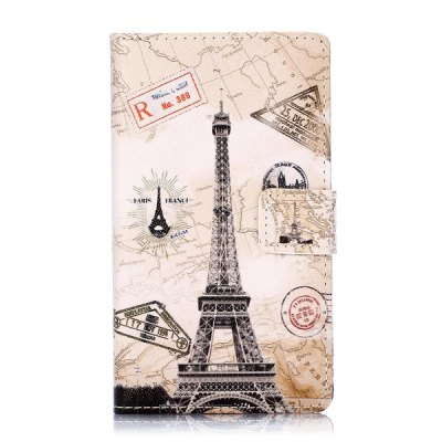 ФОТО Tower Pattern PU Leather Case with Credit Card Holder Stand for Nokia Lumia 1020