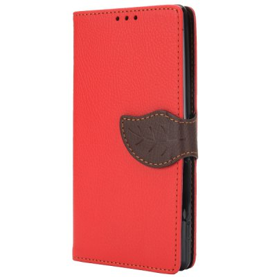 Гаджет   Cute Leaf Magnetic Buckle PU Leather Case with Credit Card Holder Stand for Sony Z2 L50W D6502 D6503 Other Cases/Covers