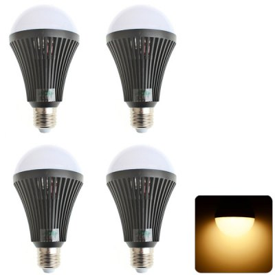 4 x Zweihnder E27 9W 800Lm 32 SMD - 2835 LEDs Bulb Light Soft White Indoor Lamp