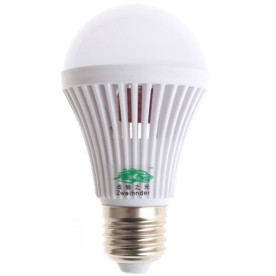 Фотография Zweihnder 5W E27 16 x SMD 2835 450Lm Soft White LED Ball Bulb with Cooling Fin  -  4 Pcs