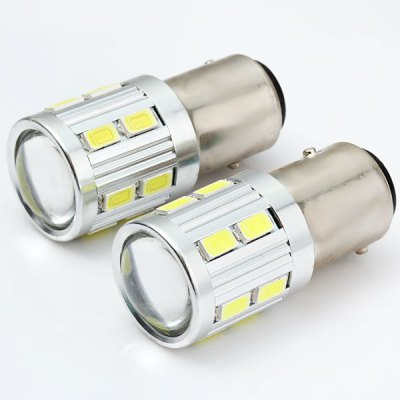 Pair of Sencart 5W 1157 Ba15d P21/5W SMD 5730 16 LEDs Auto Car LightLED Light Bulbs<br>Pair of Sencart 5W 1157 Ba15d P21/5W SMD 5730 16 LEDs Auto Car Light<br><br>Brand: Sencart<br>Type: Car Light<br>Car light type: Brake Light, Turn Signal Light, Tail Light, Reversing lamp<br>Connector: 1157<br>Lumens: 480Lm<br>LED: 16 x SMD-5730 LED<br>Color Temp: 6000-6500K<br>Available Light Color: Cold White<br>Wattage (W): 5<br>Voltage (V): AC 12V<br>Features: Low Power Consumption, Easy to use<br>Product weight: 0.025 kg<br>Package weight: 0.04 kg<br>Product size (L x W x H): 4.2 x 1.8 x 1.8 cm / 1.65 x 0.71 x 0.71 inches<br>Package size (L x W x H): 8 x 5 x 3 cm / 3.14 x 1.97 x 1.18 inches<br>Package Contents: 2 x Sencart 1157 P21/5W Ba15d 5W 16 SMD 5730 LED Car Light