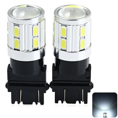 2 x Sencart 3157 W2.5X16Q P27 480Lm 5W 16 SMD 5730 LEDs Vehicle Car Light