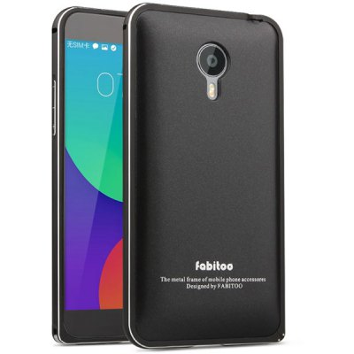 Fabitoo Frame Style Aluminium Alloy Bumper with PC Back Case for Meizu MX4