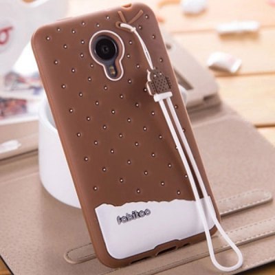 Fabitoo Silicone Back Cover Case for Meizu MX4