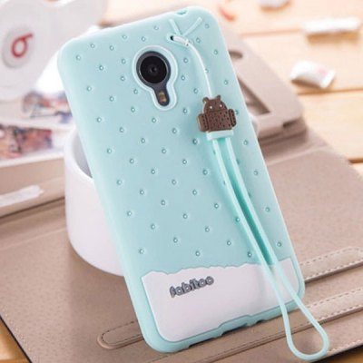 Фотография Fabitoo Lanyard Design Silicone Back Cover Case for Meizu MX4