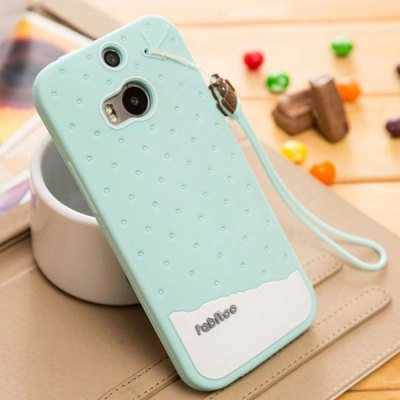 Гаджет   Fabitoo Lanyard Design Silicone Back Cover Case for HTC One 2 M8 Other Cases/Covers