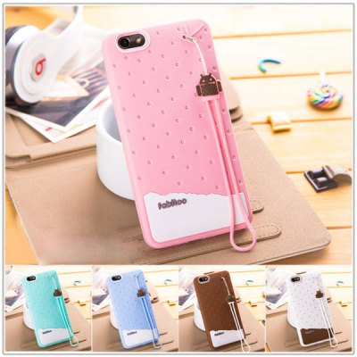 Фотография Fabitoo Lanyard Design Silicone Back Cover Case for Huawei Honor 4X
