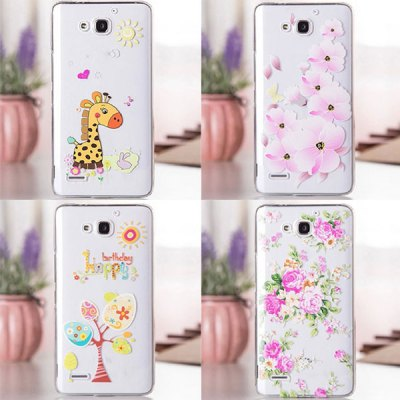 Гаджет   Fabitoo Butterfly Flower Pattern Transparent PC Back Case Cover for Huawei Honor 3X Other Cases/Covers